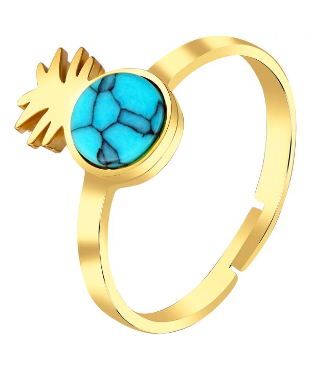 BAGUE - PINEAPPLE GOLDEN BLUE