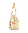 SAC A MAIN - MEDALONE ROSE TURQUOISE