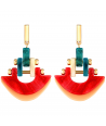 BOUCLES D'OREILLES - WISCONSIN COLOR DORADA