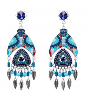 BOUCLES D'OREILLES - MEXICO BLUE