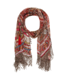 FOULARD MEDALONE TAUPE