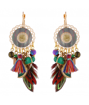 BOUCLES D'OREILLES - AZTEKA GOLD COLOR