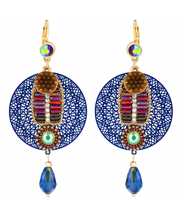 BOUCLES D'OREILLES - EGYPTIANO BLUE