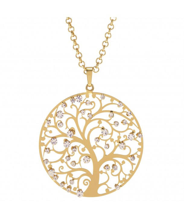 COLLIER - NATURA GOLD & CRYSTAL APPLES