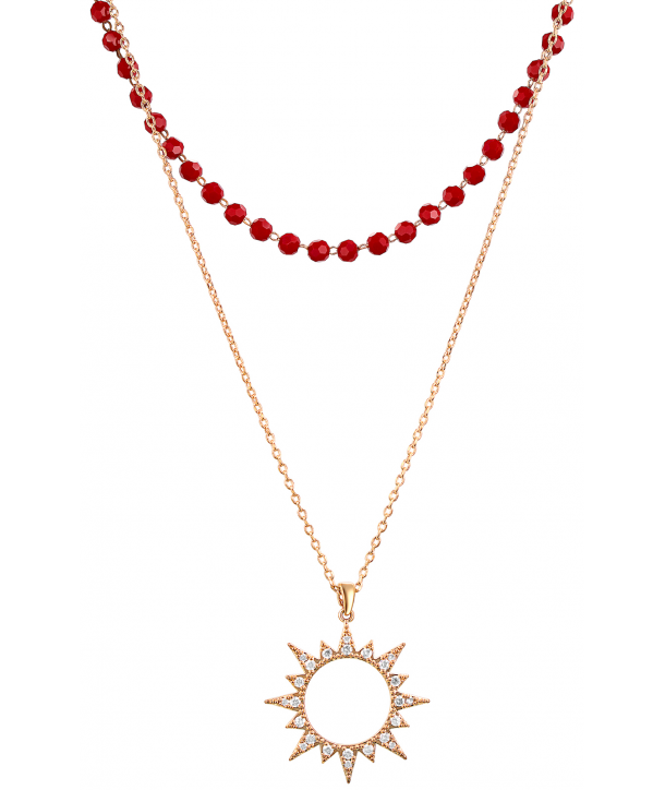 COLLIER - SUNSOL ROJA DORADA
