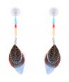 BOUCLES D'OREILLES - PLUMEA LIGHT BLUE