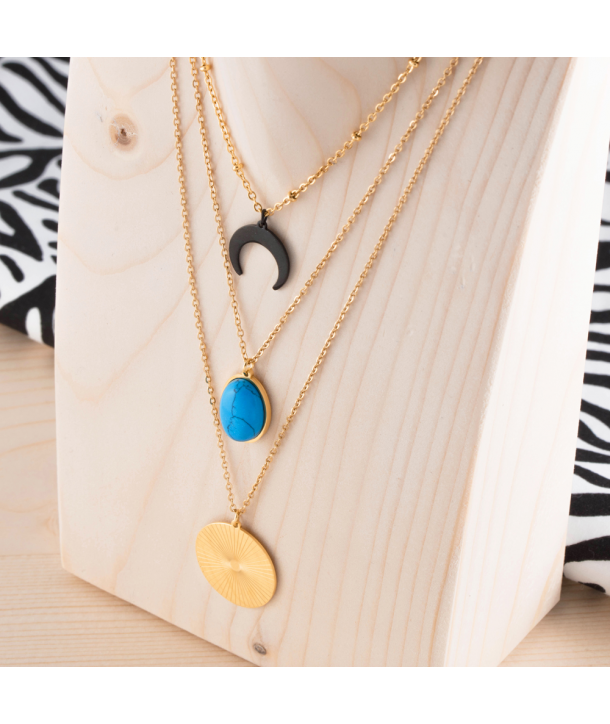 COLLIER - SOL Y MAR DORADA STEEL BLUE