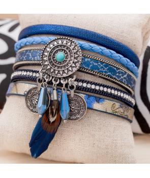 BRACELET - AZTEK BLUE SILVER
