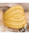 Bague ARMURIA DORADA jonc ethnique réglable acier doré martelée antique médiéval