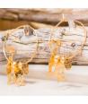 Boucles d'oreilles CHABIRIS GOLD créoles dorées perles et pampilles chat articulé