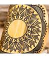 FLOENAL STEEL DORADA ring ethnic bangle adjustable golden steel ethnic engraving
